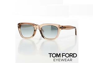 Tom Ford Snowdon TF 237-F 45Q James Bond Spectre Clear Brown Sunglasses 51mm