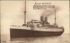 French Steamship De Grasse Paquebot 1929 Used Postcard