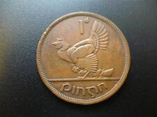 EIRE (IRELAND REPUBLIC) 1942 PENNY COIN, BRONZE. 1942 IRISH ONE PENNY PIECE.