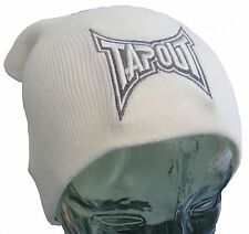 Tapout Bianco Uomo Slouch Beanie Oversize Uomo Cappello Bnwt Nuovo imbarco Mma Ufc Bjj