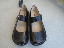 Alegria PAL-531 black leather embossed womens mary jane comfort shoes sz 39 US 9