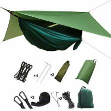 3 In 1 Camping Hammock with Mosquito Net - Lightweight 210t Nylon Rainfly