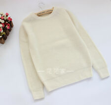 100% cashmere Knit long sleeves Top, jumper, pearl white, s