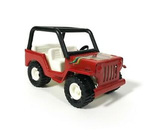 Vintage Buddy L Red Jeep with Roll Cage Made in Japan Great Condition and Clean