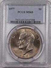 1977 Eisenhower  Ike Dollar $1 Coin PCGS MS65 (BR-37 A)