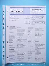 Service Manual-Anleitung für Telefunken STP 1 hifi/CP 20 hifi  ,ORIGINAL