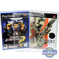 10 x PS2 Game Box Protectors STRONG 0.4mm Plastic Display Case for PlayStation 2