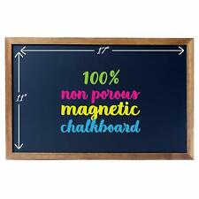 "Cedar Markers 17""X11"" Chalkboard With Wooden Frame. 100% Non-Porous Erasable Bla"