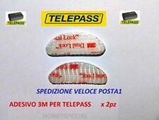 2 Pezzi Adesivi per fissaggio TELEPASS 3M DUAL LOCK SJ3560 auto tablet POSTA1