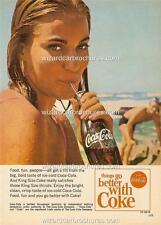 1967 COCA COLA COKE HOLDEN FORD SEXY HOT BIKINI GIRL A3 POSTER AD SALES BROCHURE