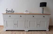 New Solid Pine 7ft Painted Sideboard/Welsh Dresser/Base Unit in Any F&B Colour