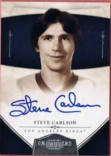 2010-11 PANINI DOMINION STEVE CARLSON #186 ON CARD AUTO #097/199 SLAP SHOT 10-11