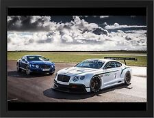 BENTLEY CONTINENTAL GT3 RACER NEW A3 FRAMED PHOTOGRAPHIC PRINT POSTER