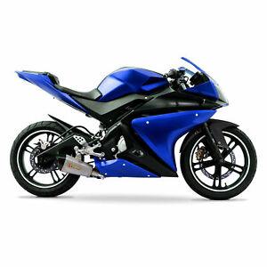 Lackiert Komplett Verkleidung 21Stück-Set für Yamaha YZF-R125 14-18 Blau/Schwarz
