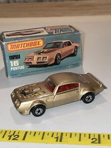 Vintage Matchbox Lesney Super fast  16 Pontiac New In Box