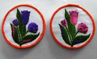 Set á 2 Stück Blumen Aufnäher Patch Flowers Applikation 104