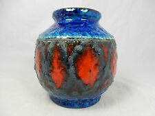 "Beautiful 70´s design Bay Keramik pottery ""LAVA"" Glaze VASO 563 - 14"