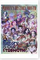 Women's History Month Our History Is Our Strength DOD Poster