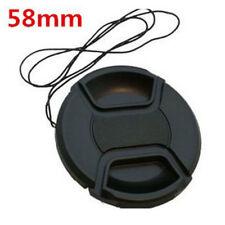 Wholesale Black 58 mm Front Lens Caps Center Snap on Lens Cap For Nikon Camera