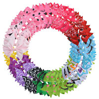 Grosgrain Ribbon Pinwheel Boutique Hair Bows Alligator Clips for Baby Girls Kids