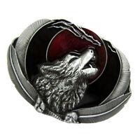 Western Vintage Rodeo 3D Vivid Howling Wolf Belt Buckle Wild Animal Belt Jewelry