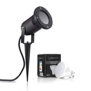 Auraglow Deep Recessed GU10 Holder Garden Spike Light IP54 Outdoor Uplighter