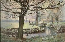 CARTE POSTALE POSTCARD TUCK FANTAISIE ILLUSTRATEUR OLD WINTER COUNTRY CHARMS