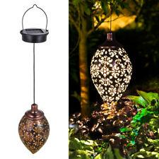 Outdoor Solar Lantern Hanging Light LED Waterproof Yard Patio Garden Lamp J7V5