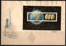HUNGARY 1961 SPACE VENUS ROCKET SS IMPERF FDC