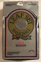 1992 SERIES 1 LEAF SET BASEBALL 15 CARD PACKS - OPENED FACTORY BOX OF 36   #3504
