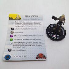 Heroclix Gears of War 3 set Anya Stroud #005 Gravity Feed figure w/card!