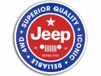 "4"" JEEP VINTAGE ORIGINAL STYLE HELMET BUMPER DECAL STICKER USA MADE"