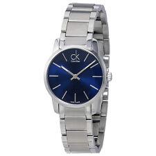 Calvin Klein City Blue Dial Stainless Steel Ladies Watch K2G2314N