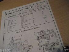 Alfa Romeo Alfetta 1.8, 1750 berlina, Solex 40 addhe 4 carburador plan