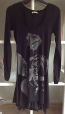 Ladies Black River Island Long Top - Size 8