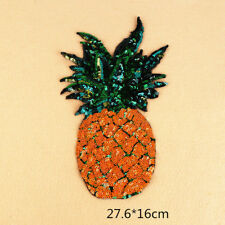 Sequined Patch Big Applique Pineapple Patches Stickers Clothes Jacket New