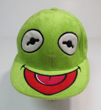 Kermit the Frog Furry Face Fitted Baseball Hat Cap Muppets Fuzzy Soft
