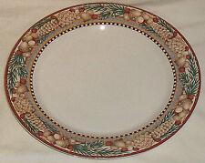 """Sakura Dinner Plate PINE CONE 11"""" Debbie Mumm 1998 Pinecone Woodland Santa"""