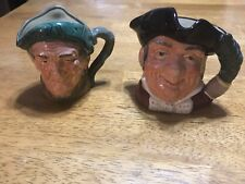 2 Royal Doulton Toby Character Jugs Auld Mac & Mine Host Made in England