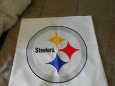 "White ""Steelers "", "" NFL"" Square Cushion Cover Case Home Decor"