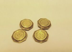 Vintage 14K Gold Cufflinks Solid Yellow Gold 5 gr.