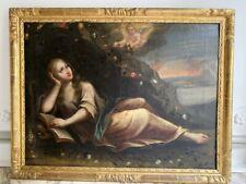 Huile sur toile marie madeleine tableau religieux