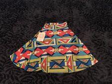 LulaRoe Kid's Azure Style Skirt Pink Blue Size 4