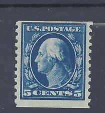 USA 1914 5c WASHINGTON COIL IMPERF x PERF 10 MINT LIGHTLY HINGED  SG 454