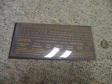 Campbell Road Dry Transfers  decals HO Gold custom names Baltimore ++++  L144