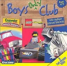 Video Game PC Boys Only Club 3 Games Crayola Vehicle Voyages Lego Racers NEW