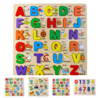 Baby Kid Early Learning Toy Alphabet Number Puzzle Board For Toddler Educational