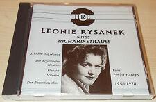 LEONIE RYSANEK-SINGS RICHARD STRAUSS (LIVE 1956-1978)-HRE CD-RARE/MINT