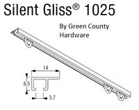 Campervan / Motorhome Silent Gliss Curtain Track, 1.2 mtr Top fix complete kit