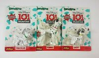 Disney 101 Dalmations Bend-ems poseable figures Pongo Lucky & Freckles 1990 NEW